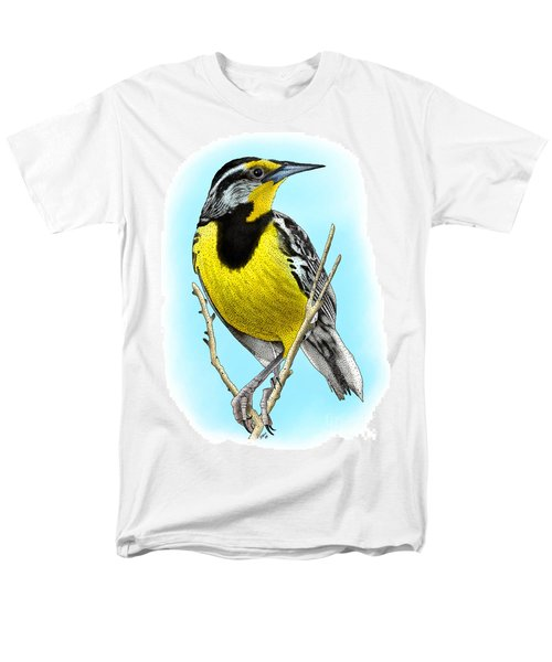 Eastern Meadowlark Men's T-Shirt  (Regular Fit) by Roger Hall