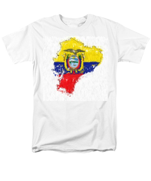 Ecuador Painted Flag Map Men's T-Shirt  (Regular Fit) by Antony McAulay