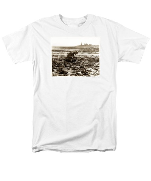Ed Ricketts At Point Wilson Lighthouse In Port Townsend Wa 1930 Men's T-Shirt  (Regular Fit) by California Views Mr Pat Hathaway Archives