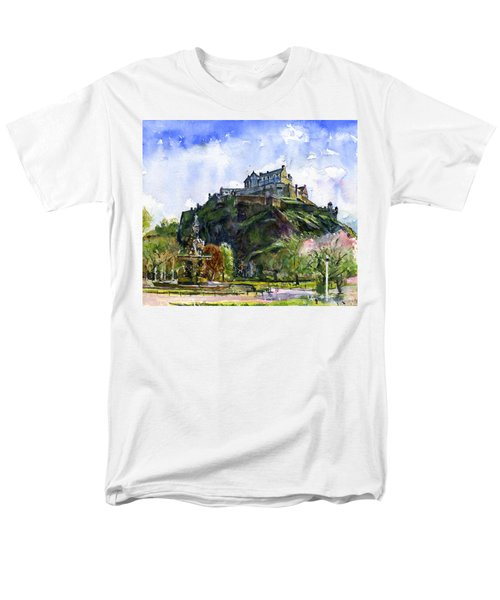 Edinburgh Castle Scotland Men's T-Shirt  (Regular Fit) by John D Benson