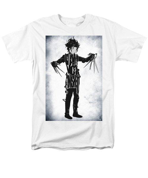 Edward Scissorhands - Johnny Depp Men's T-Shirt  (Regular Fit) by Ayse Deniz