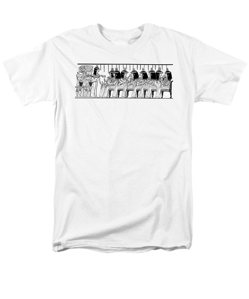 Egyptian Ladies 1886 Drawing Men's T-Shirt  (Regular Fit) by Phil Cardamone