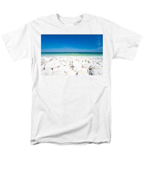 Elba - Capo Bianco  Men's T-Shirt  (Regular Fit) by Luciano Mortula