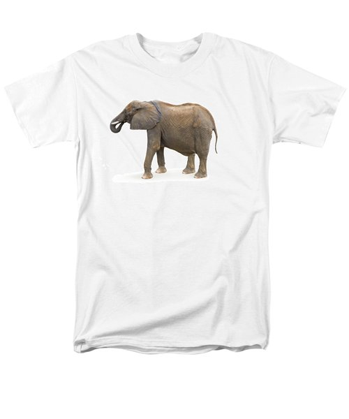 Men's T-Shirt  (Regular Fit) featuring the photograph Elephant by Charles Beeler
