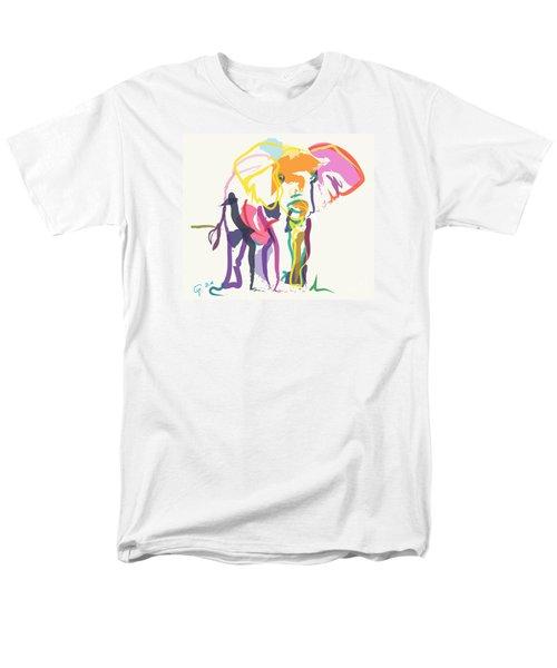 Elephant In Color Ecru Men's T-Shirt  (Regular Fit) by Go Van Kampen