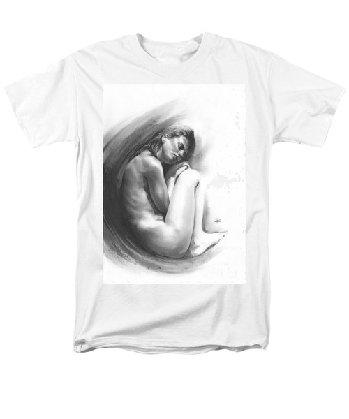 Men's T-Shirt  (Regular Fit) featuring the drawing Embryonic 1 by Paul Davenport