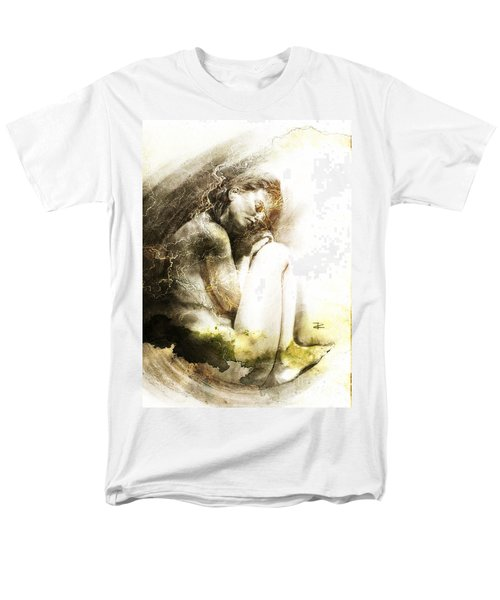 Men's T-Shirt  (Regular Fit) featuring the drawing Embryonic Drawing Textured by Paul Davenport