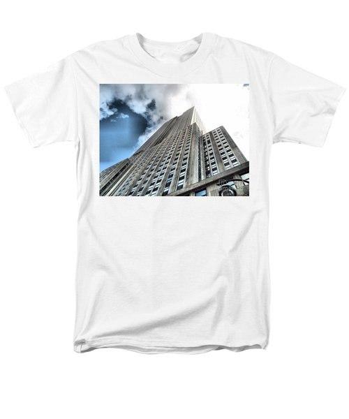 Empire State Building - Vertigo In Reverse Men's T-Shirt  (Regular Fit) by Luther Fine Art