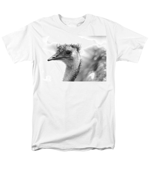 Emu - Black And White Men's T-Shirt  (Regular Fit) by Carol Groenen