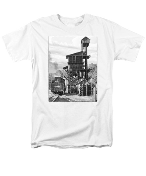 Engine 488 At The Tipple Men's T-Shirt  (Regular Fit) by Shelly Gunderson