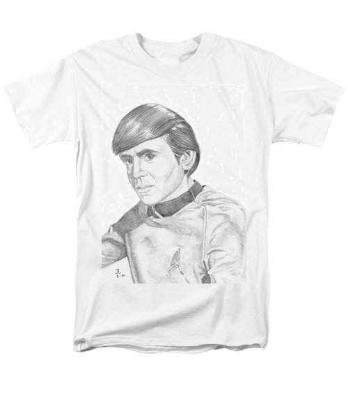 Men's T-Shirt  (Regular Fit) featuring the drawing Ensign Pavel Chekov by Thomas J Herring