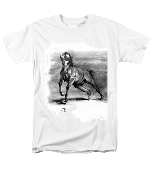 Men's T-Shirt  (Regular Fit) featuring the drawing Equine IIi by Paul Davenport