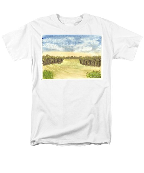 Men's T-Shirt  (Regular Fit) featuring the painting Escape To The Country by Tracey Williams