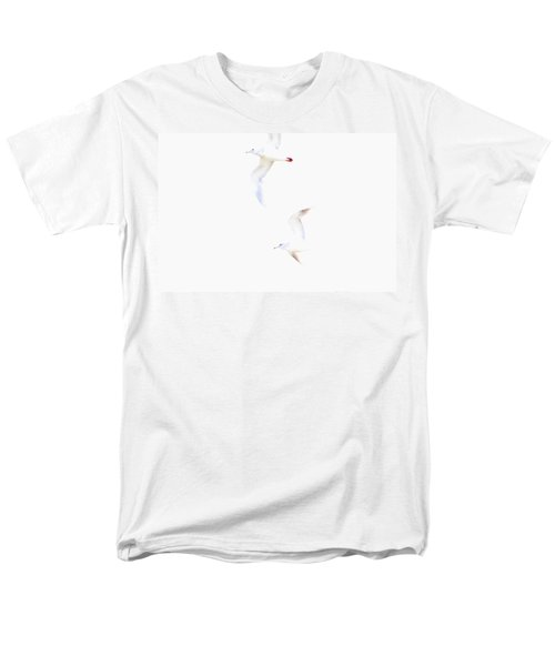 Men's T-Shirt  (Regular Fit) featuring the photograph Ethereal Gulls by Peggy Collins