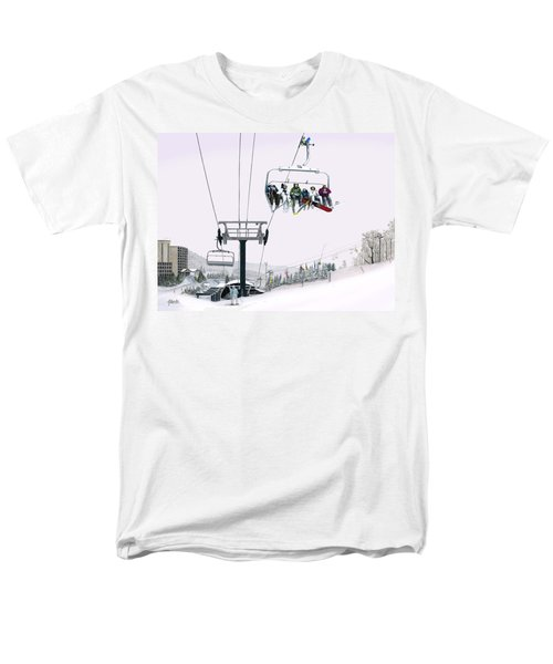 Men's T-Shirt  (Regular Fit) featuring the painting Experience Seven Springs by Albert Puskaric