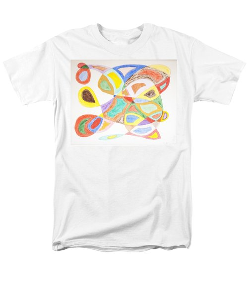 Men's T-Shirt  (Regular Fit) featuring the painting Masks by Stormm Bradshaw