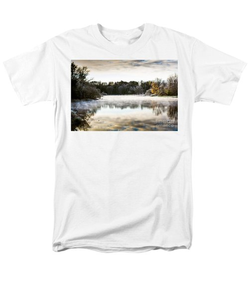 Fall Scene On The Mississippi Men's T-Shirt  (Regular Fit) by Cheryl Baxter