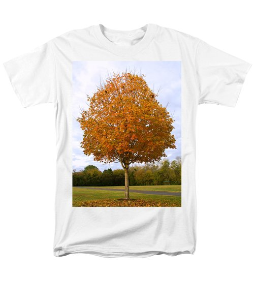 Fall Sugar Maple Men's T-Shirt  (Regular Fit) by Melinda Fawver
