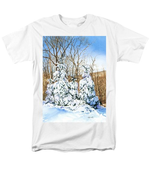 Men's T-Shirt  (Regular Fit) featuring the painting Family Of Four Trailside At 7 Springs by Barbara Jewell