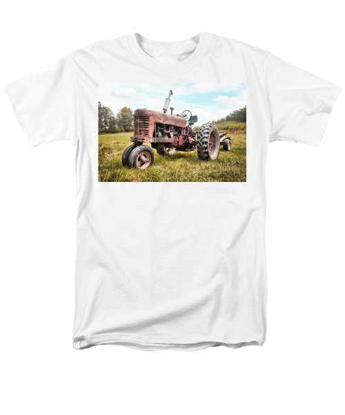 Farmall Tractor Dream - Farm Machinary - Industrial Decor Men's T-Shirt  (Regular Fit) by Gary Heller