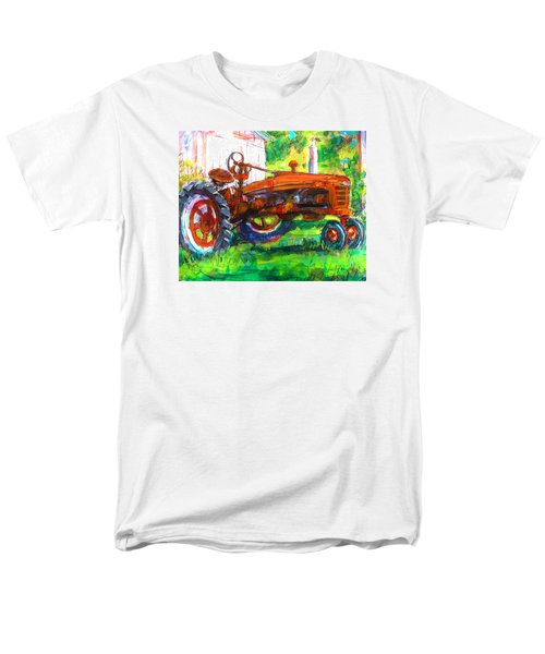 Farmall Tractor Men's T-Shirt  (Regular Fit) by Les Leffingwell