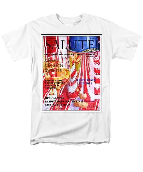 Faux Magazine Cover Men's T-Shirt  (Regular Fit) by Mariarosa Rockefeller