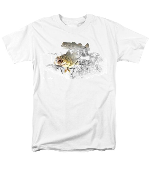 Feeding Largemouth Black Bass Men's T-Shirt  (Regular Fit) by Randall Nyhof