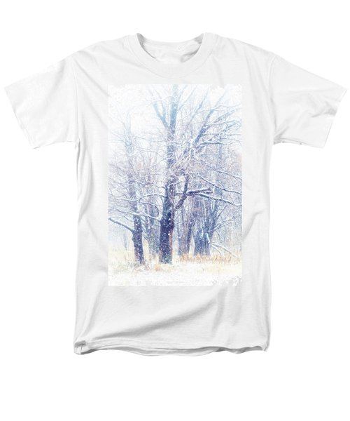 First Snow. Dreamy Wonderland Men's T-Shirt  (Regular Fit) by Jenny Rainbow