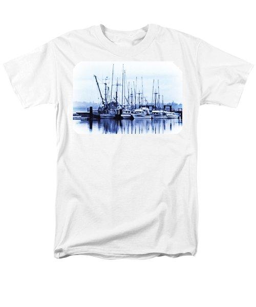 Men's T-Shirt  (Regular Fit) featuring the digital art Fishers' Wharf by Richard Farrington