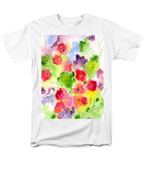 Floral Fantasy Men's T-Shirt  (Regular Fit) by Paula Ayers