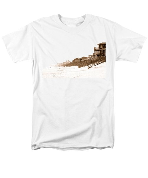 Florida Beach Sepia Print Men's T-Shirt  (Regular Fit) by Charles Beeler