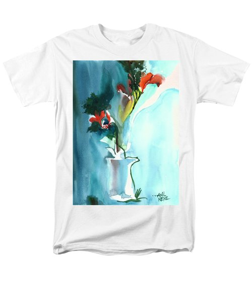 Flowers In Vase Men's T-Shirt  (Regular Fit) by Anil Nene