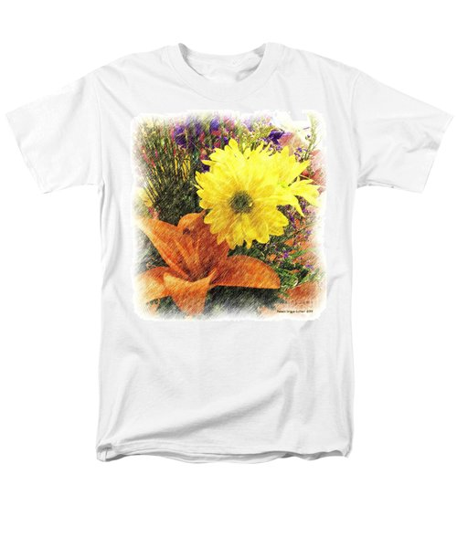 Men's T-Shirt  (Regular Fit) featuring the photograph Flowers With Love by Luther Fine Art