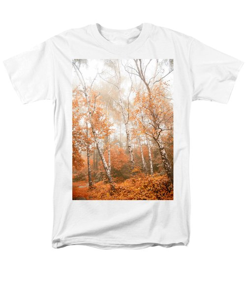Foggy Autumn Aspens Men's T-Shirt  (Regular Fit) by Eti Reid