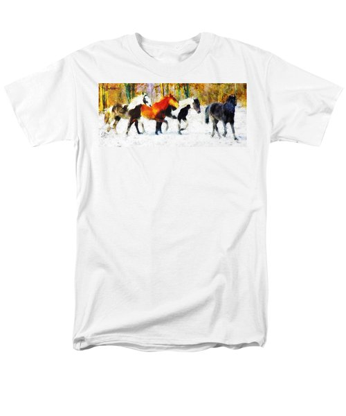 Men's T-Shirt  (Regular Fit) featuring the painting Follow The Leader by Greg Collins
