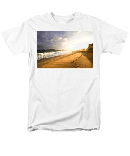 Footsteps In The Sand Men's T-Shirt  (Regular Fit) by Eti Reid