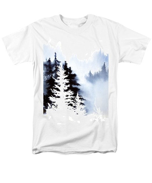 Men's T-Shirt  (Regular Fit) featuring the painting Forest Indigo by Teresa Ascone