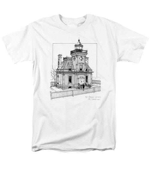 Fort Tompkins Lighthouse Men's T-Shirt  (Regular Fit) by Ira Shander