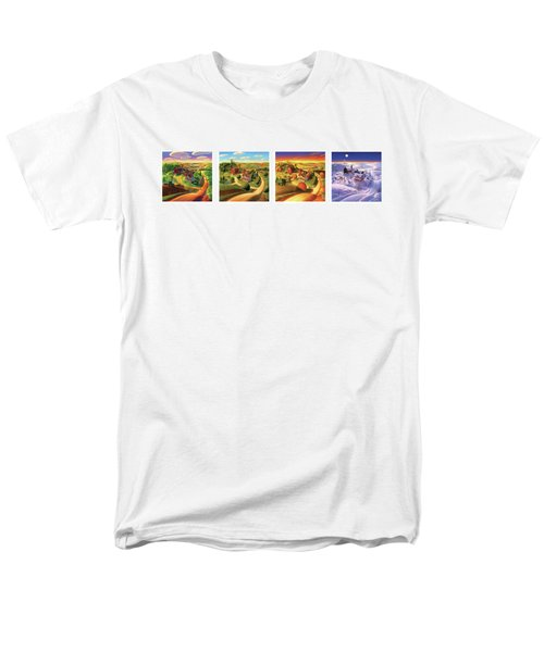 Four Seasons On The Farm Men's T-Shirt  (Regular Fit) by Robin Moline