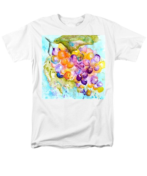 Men's T-Shirt  (Regular Fit) featuring the painting Fresh Grapes by Beverley Harper Tinsley