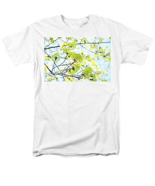 Men's T-Shirt  (Regular Fit) featuring the photograph Fresh Spring Green Buds by Brooke T Ryan