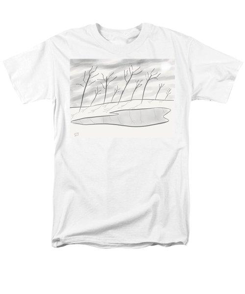 Frozen Landscape Men's T-Shirt  (Regular Fit) by Stacy C Bottoms