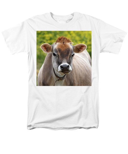 Funny Jersey Cow -square Men's T-Shirt  (Regular Fit)