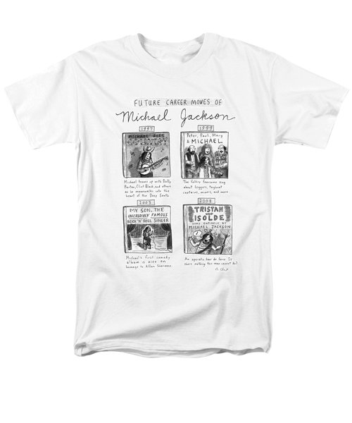 Future Career Moves Of Mickael Jackson Men's T-Shirt  (Regular Fit) by Roz Chast