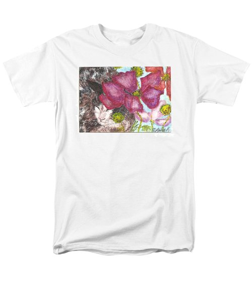 Men's T-Shirt  (Regular Fit) featuring the painting Garden Nap by Reina Resto