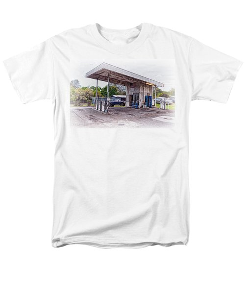 Men's T-Shirt  (Regular Fit) featuring the photograph Gasoline Station by Jim Thompson