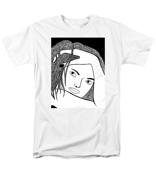 Men's T-Shirt  (Regular Fit) featuring the drawing Genuine by Jamie Lynn
