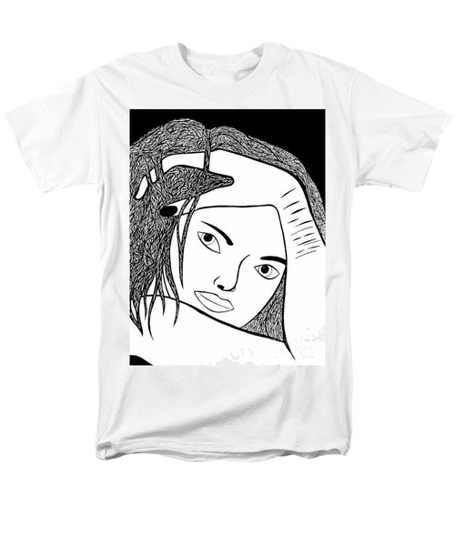 Men's T-Shirt  (Regular Fit) featuring the drawing Genuine Scars by Jamie Lynn