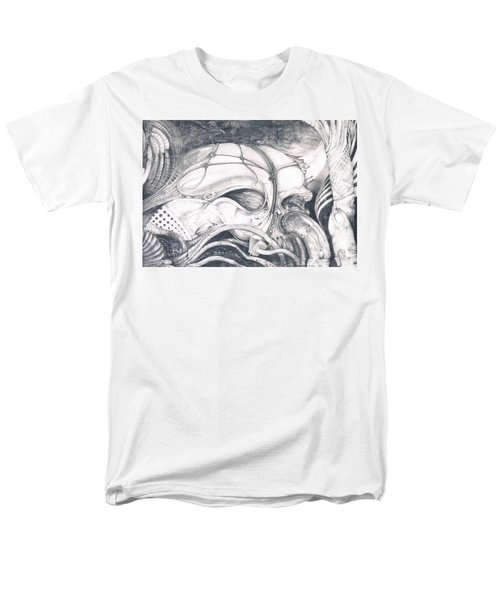 Men's T-Shirt  (Regular Fit) featuring the drawing Ghost In The Machine by Otto Rapp