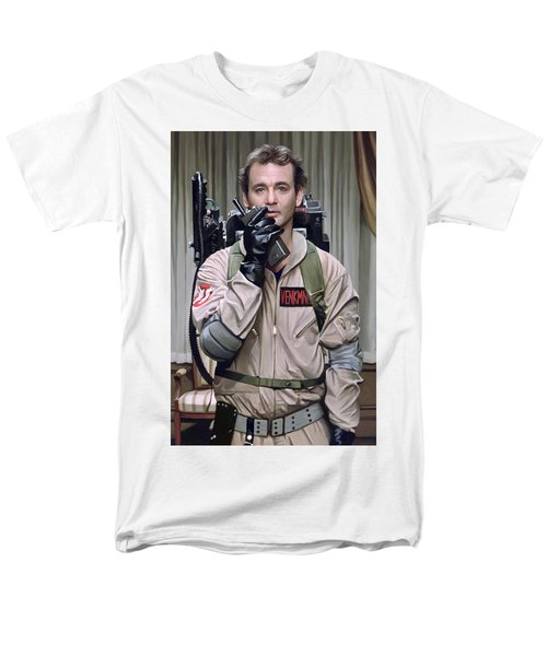 Men's T-Shirt  (Regular Fit) featuring the painting Ghostbusters - Bill Murray Artwork 2 by Sheraz A